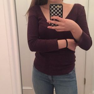 Plum Free People Thermal Top